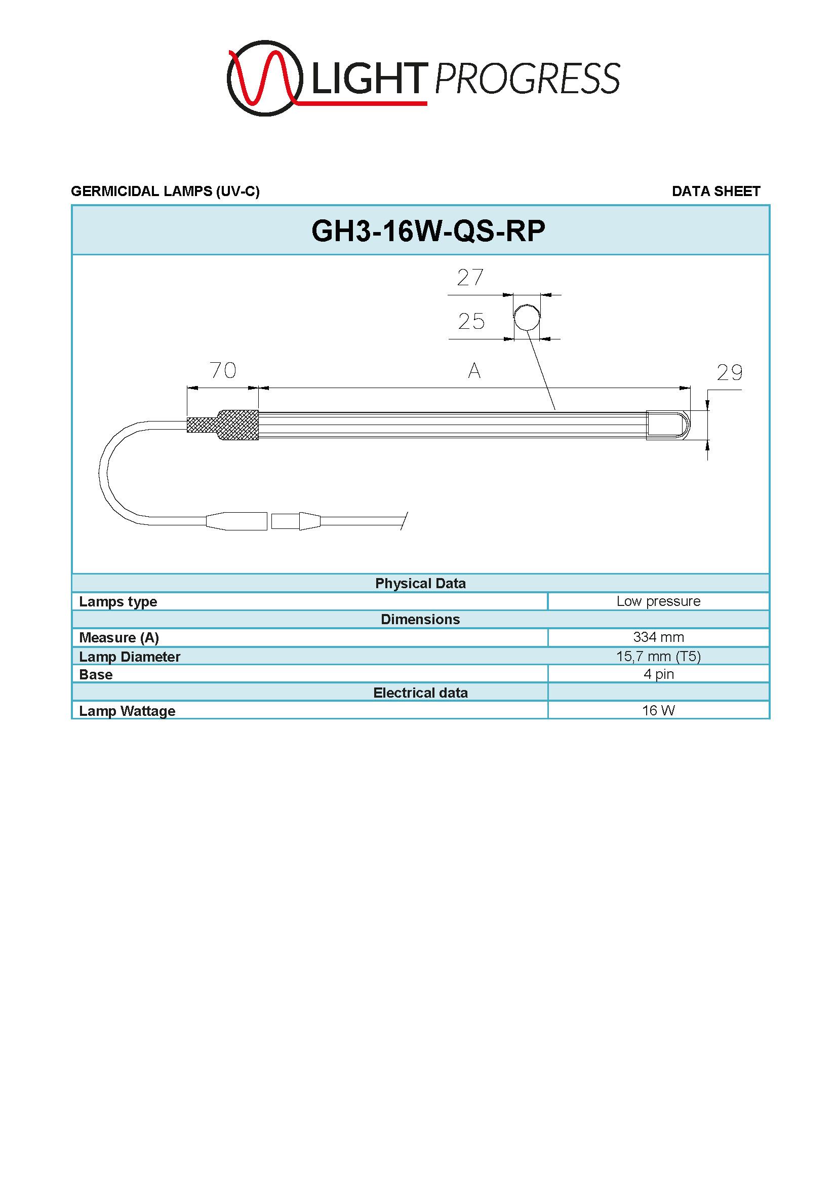 LIGHT PROGRESS GH3-16W