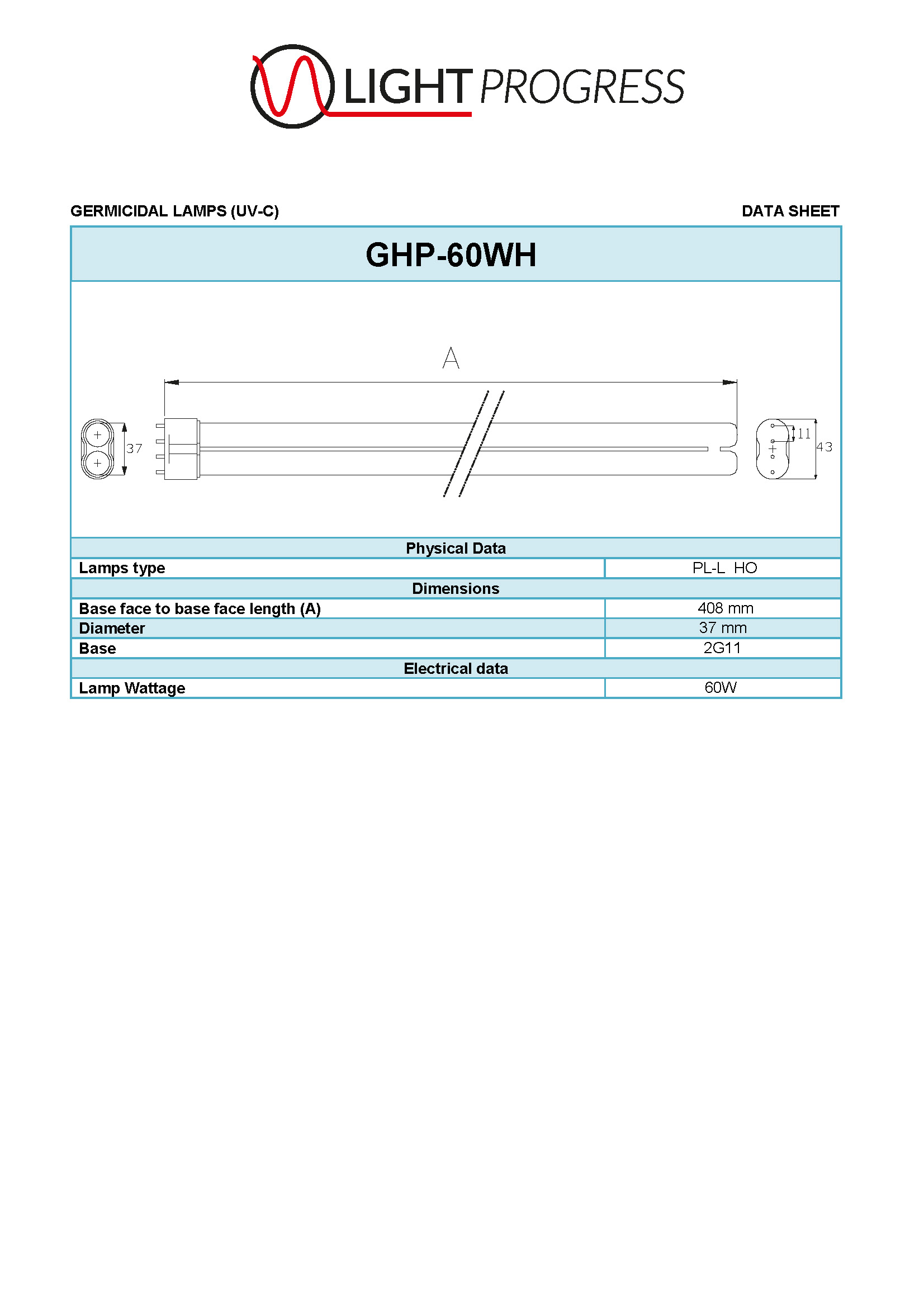 GHP-60WH LAMP (UVC)