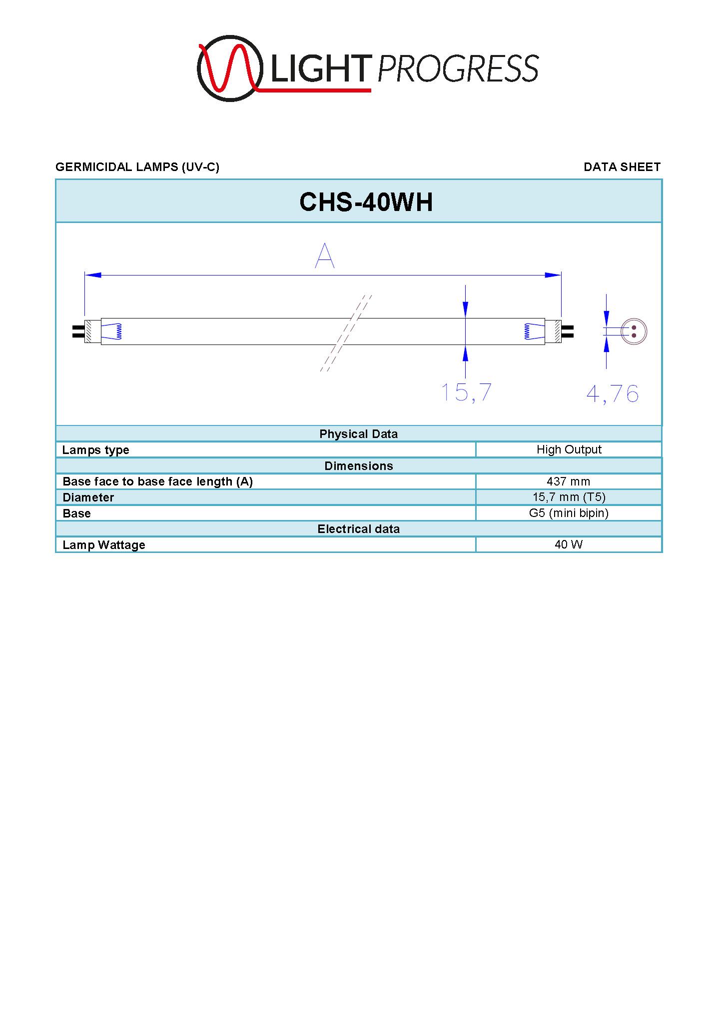 LIGHT PROGRESS CHS-40WH