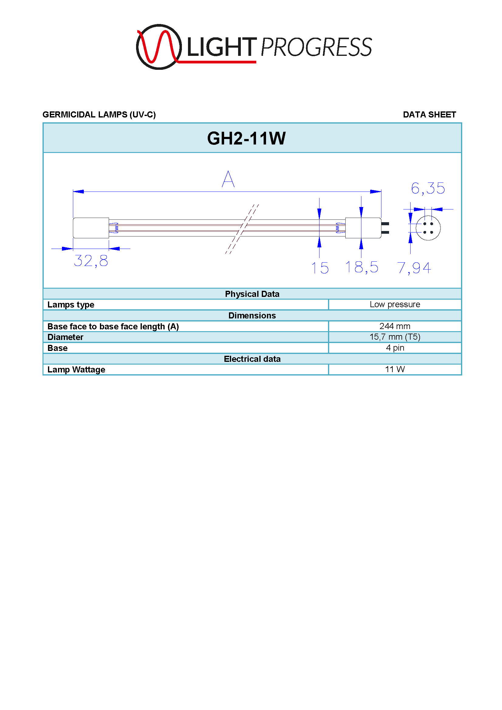LIGHT PROGRESS GH2-11W